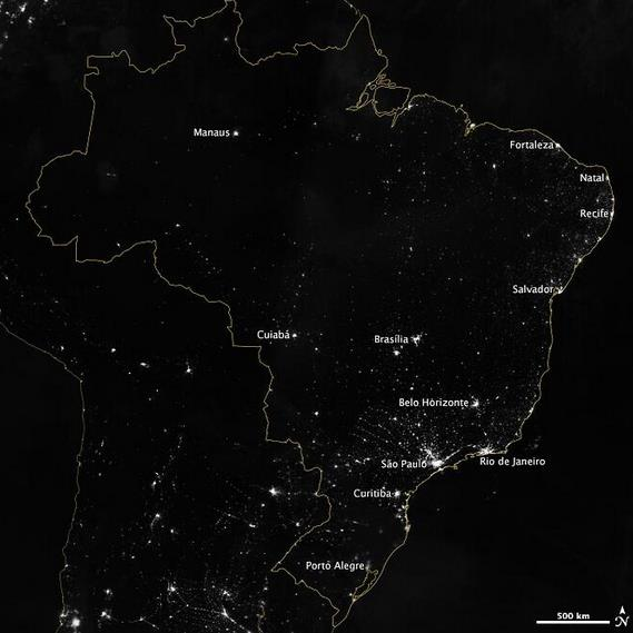night-brazil-nasa